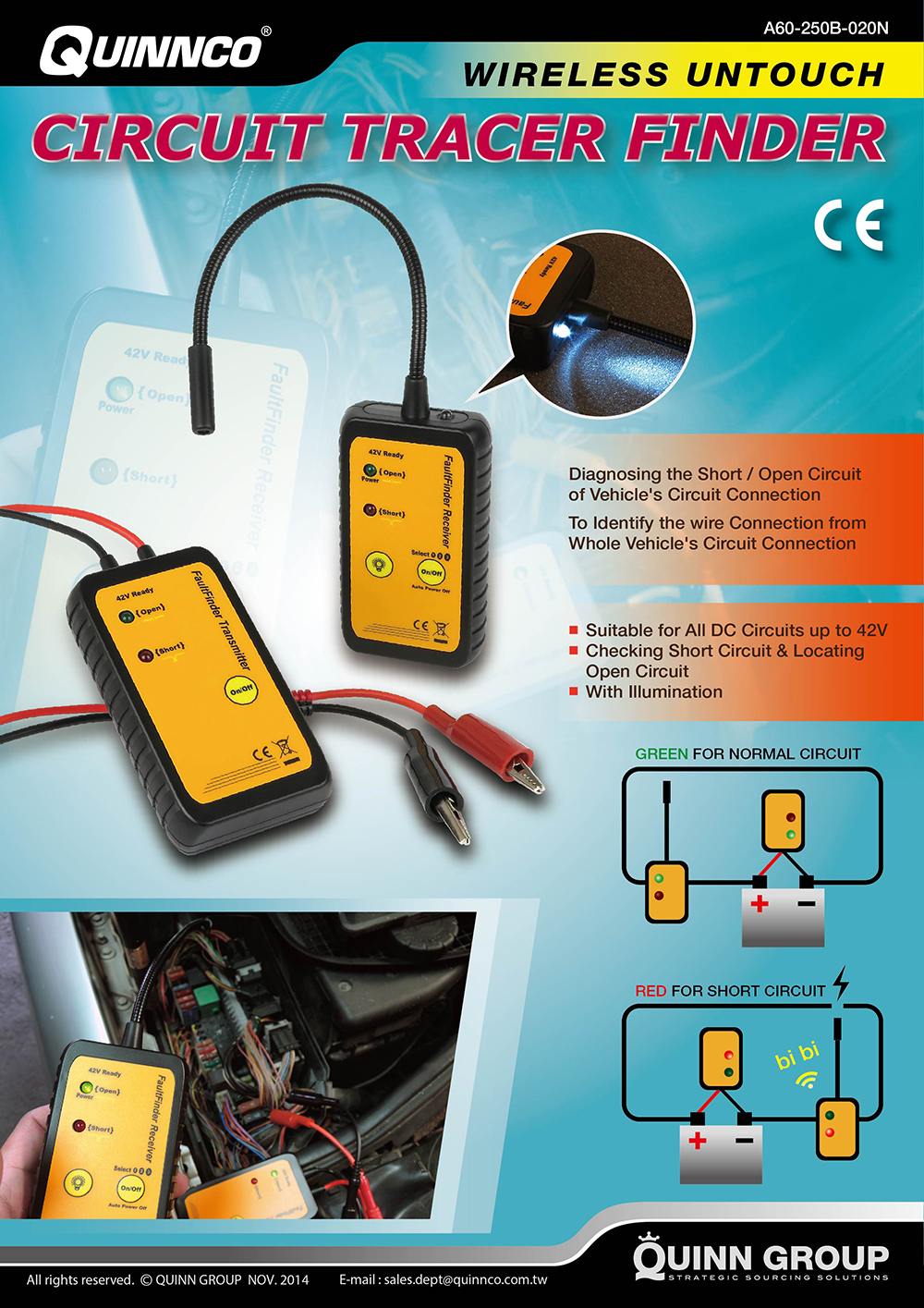 2014 Special Recommendation News Quinn Group 42v Short Open Circuit Finder And Tracer Locate Circuits